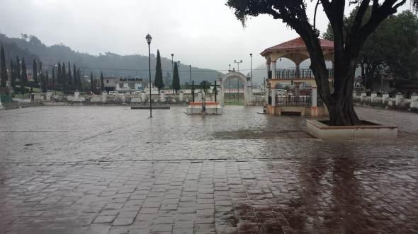 plaza principal de zinacantan